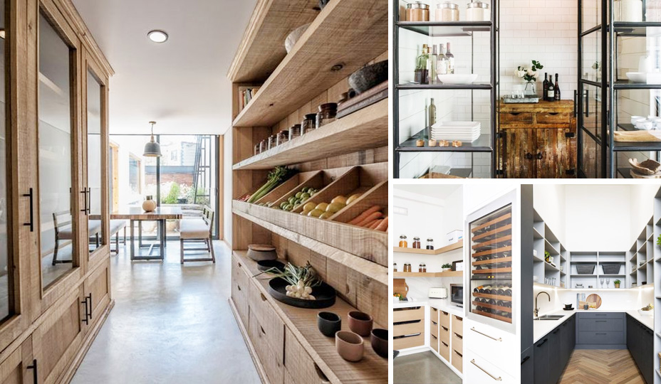 modern kitchen with big pantry