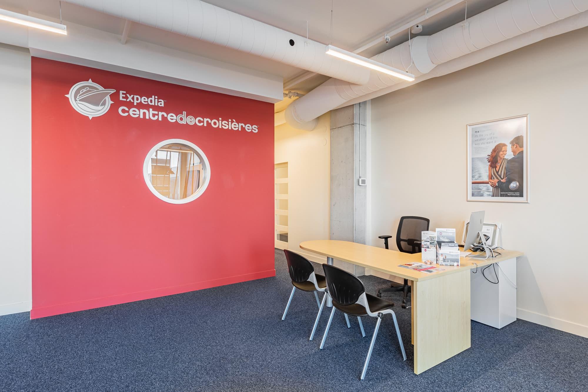 aménagement de bureaux - Expédia Centre de Croisières