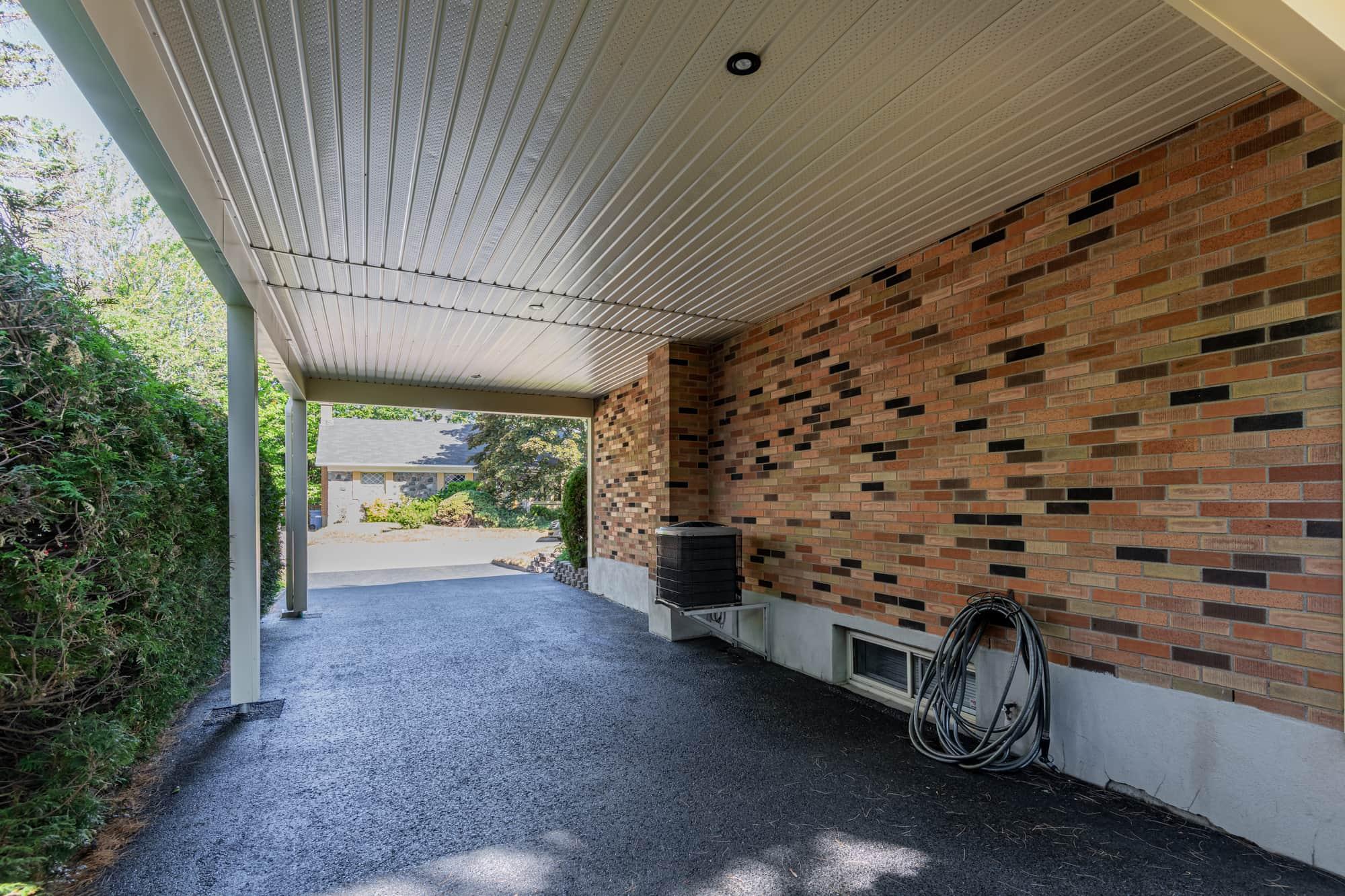 carport newly added - interior view
