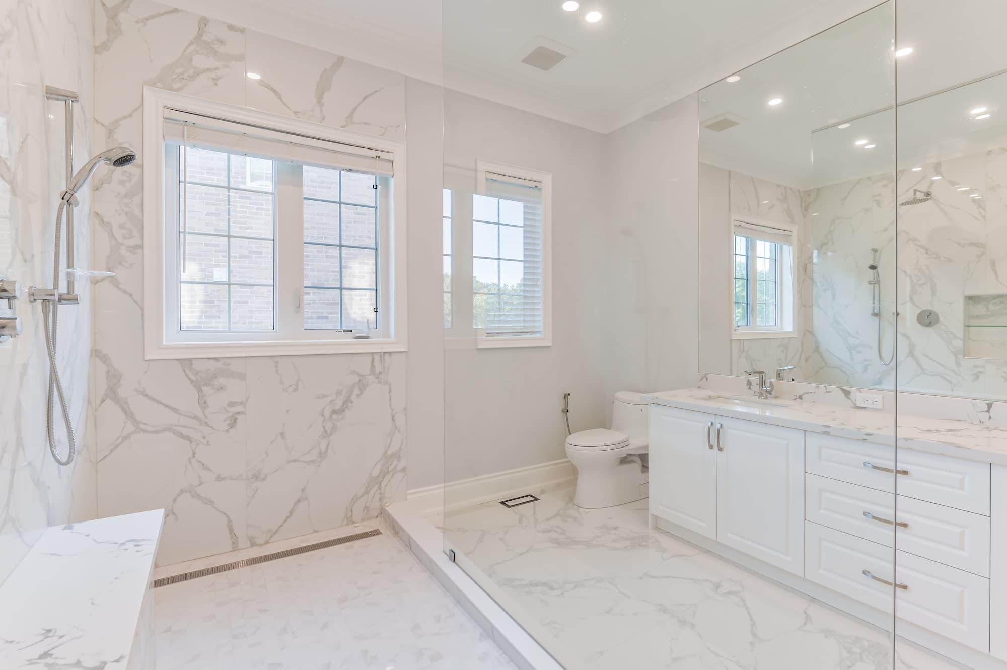 design salle de bain classique avec douche italienne