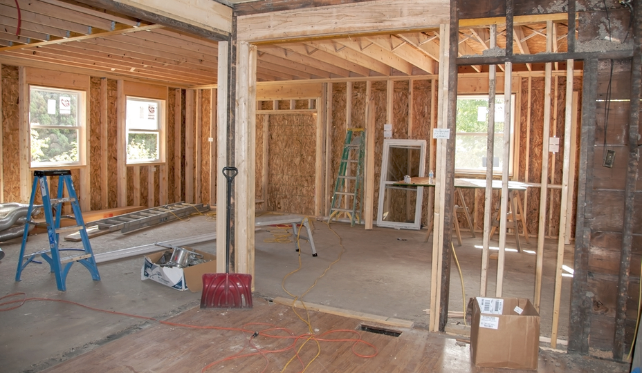 house under renovation