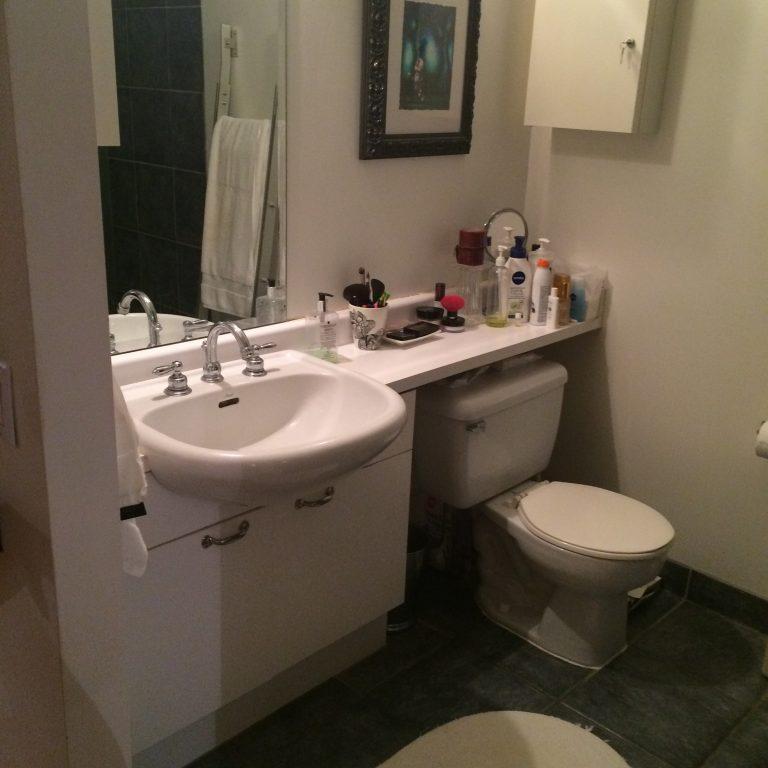Mason | Small bathroom in a condo