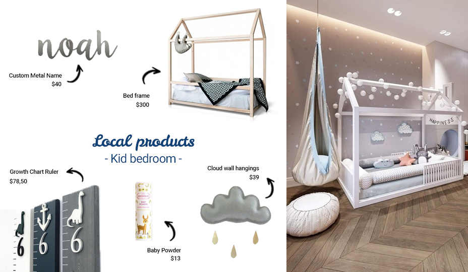 Local products to decorate your a kid's bedroom