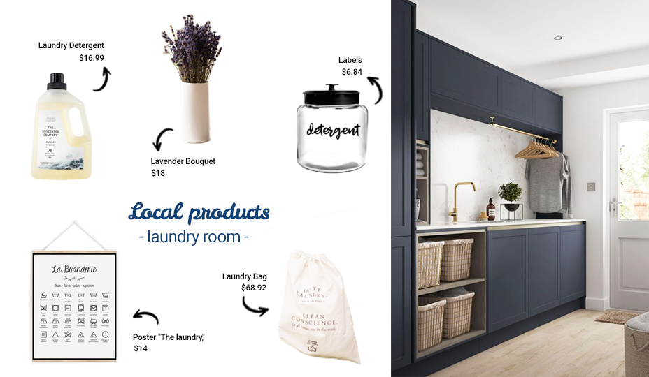 Decorate your laundry room with local products