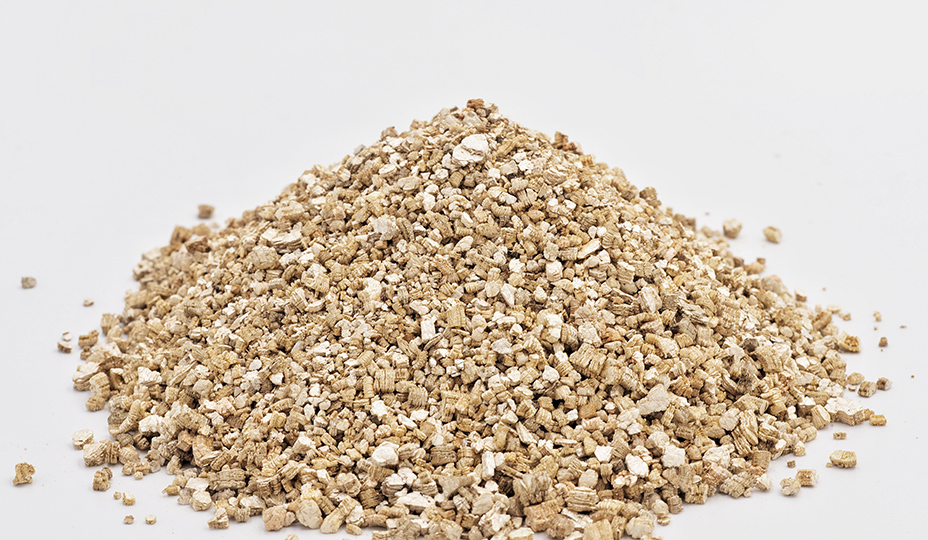 zoomed view of vermiculite