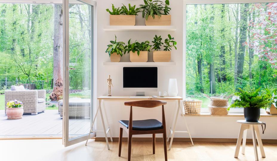 Construire un bureau de jardin: 4 options originales