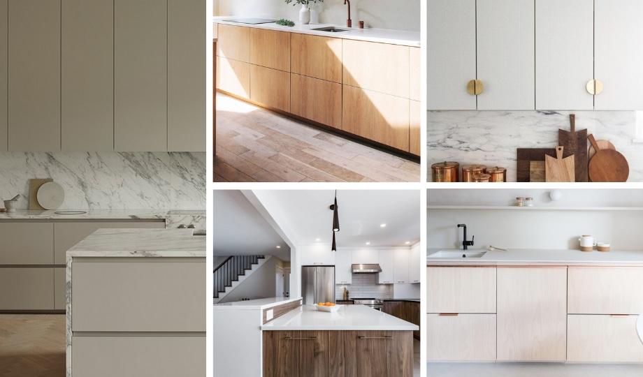 idées armoires de cuisine de style minimaliste
