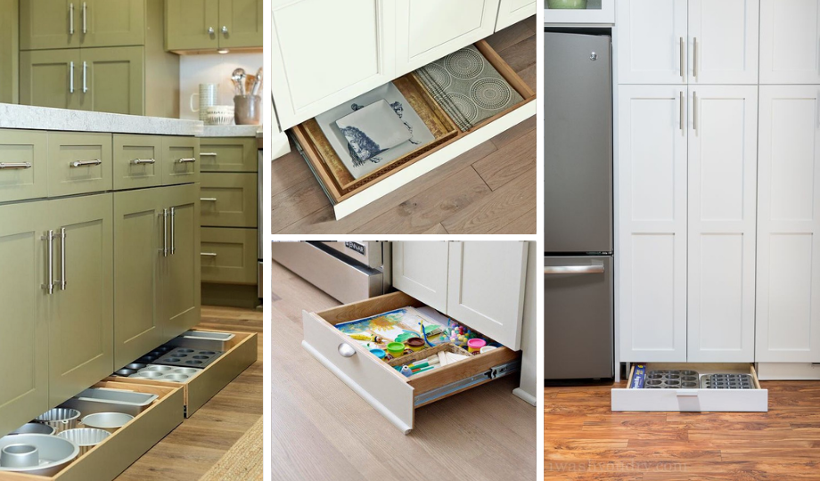 design your kitchen with toe kick drawers