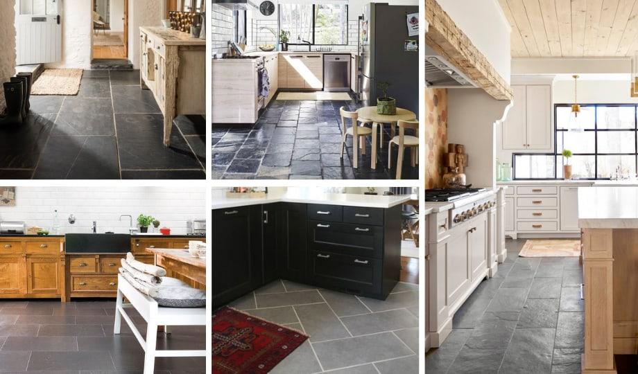 Granite foncé pour plancher de cuisine