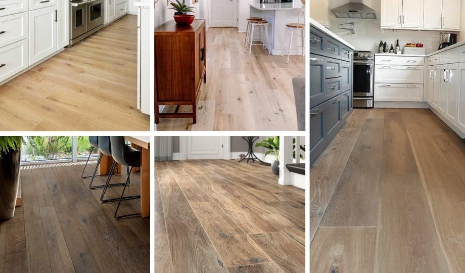 Plancher de bois d'ingénierie pour une cuisine